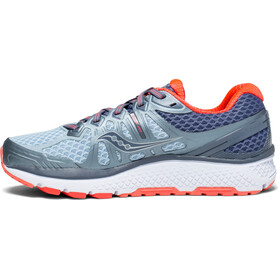 saucony Echelon 6 Shoes Women Fog/Grey/Vizipro Red
